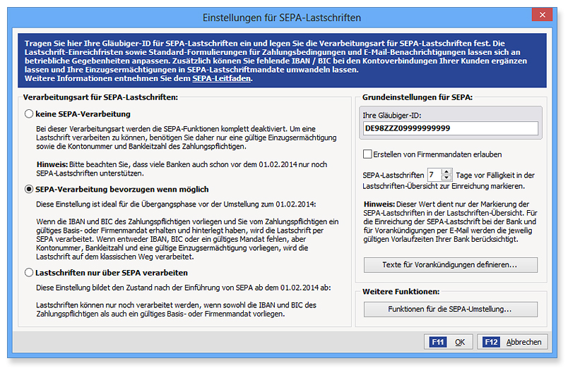 SEPA Screenshot