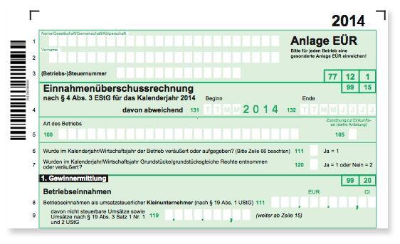 Steuerformular 2014