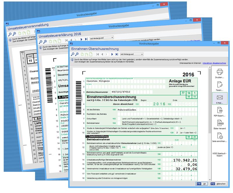 orgaMAX 17: Steuerformulare 2017