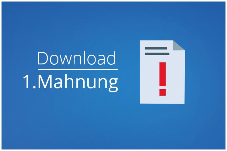 Mahnung schreiben – Vorlage: 1. Mahnung / Zahlungserinnerung zum Download