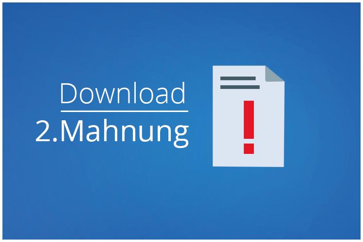 Mahnung schreiben – Vorlage: 2. Mahnung zum Download