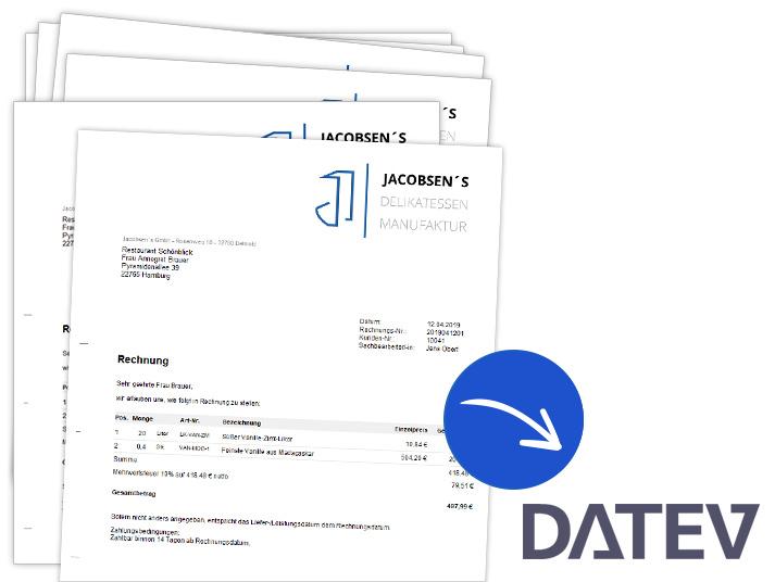 Rechnungsvorlagen für den DATEV-Export