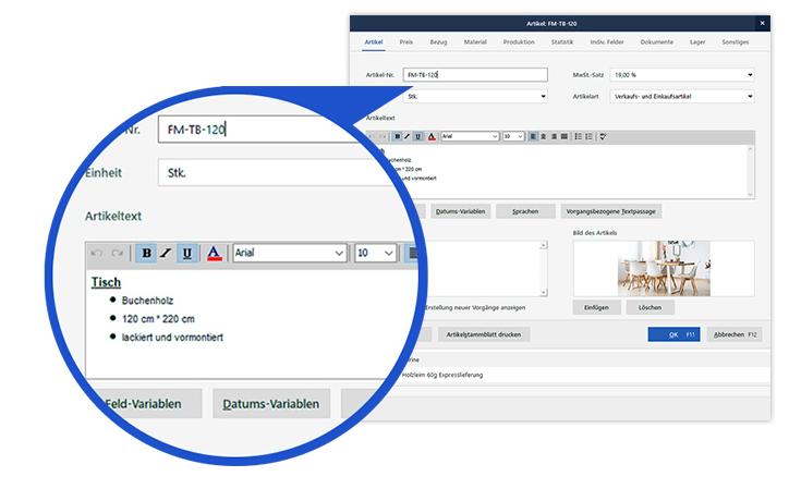 Kunden- und Artikelverwaltung im Warenwirtschaftssystem orgaMAX
