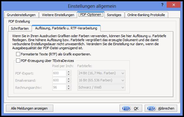 PDF-Optionen
