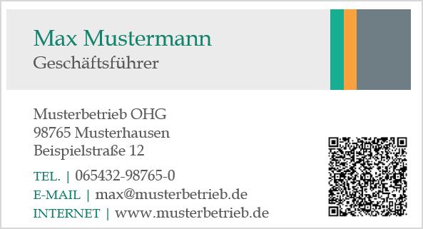 Visitenkarte mit QR-Code