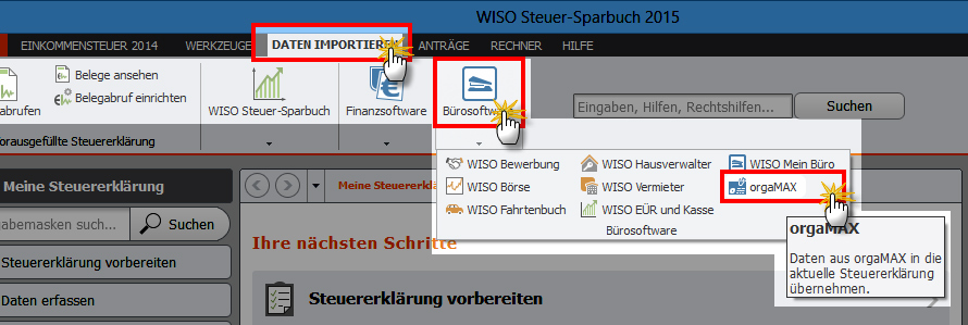 Sparbuch-Import