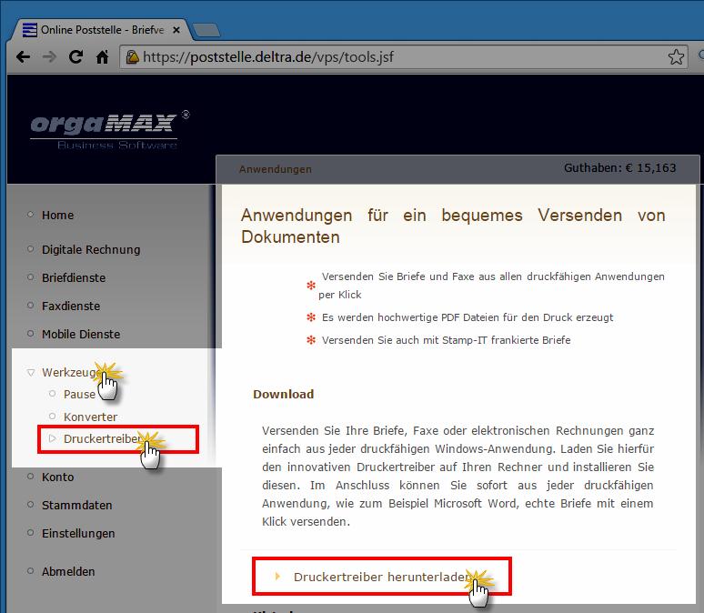 Druckerauswahl | orgaMAX Praxistipp