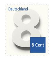 Portoerhöhung 2016: Abbildung 8-Cent-Briefmarke | orgaMAX Bürosoftware