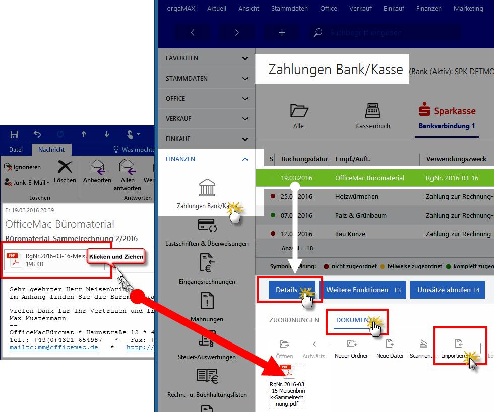 Elektronische Belege: Dokumentenablage im Zahlungsvorgang