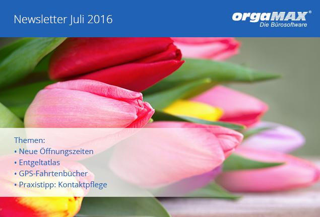Newsletter Juli 2016