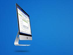 Abbildung Apple Monitor | orgaMAX auf dem Mac