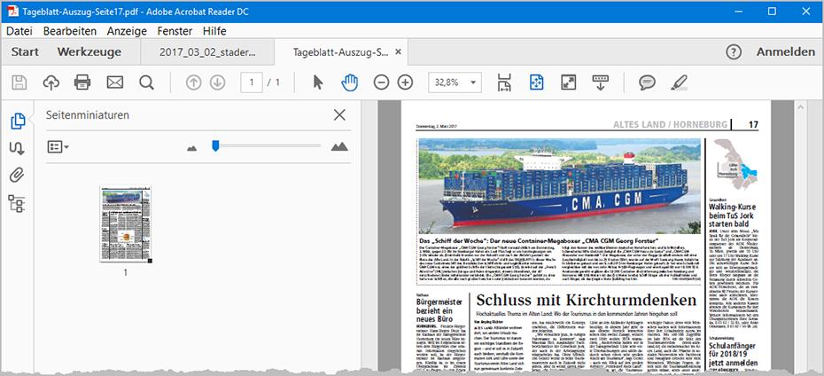 PDFs filetieren: Auszug aus Druckfunktion2 | orgaMAX Bürosoftware
