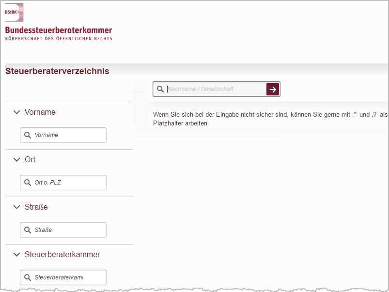 Bundessteuerberaterkammer: Steuerberaterverzeichnis | orgaMAX Bürosoftware
