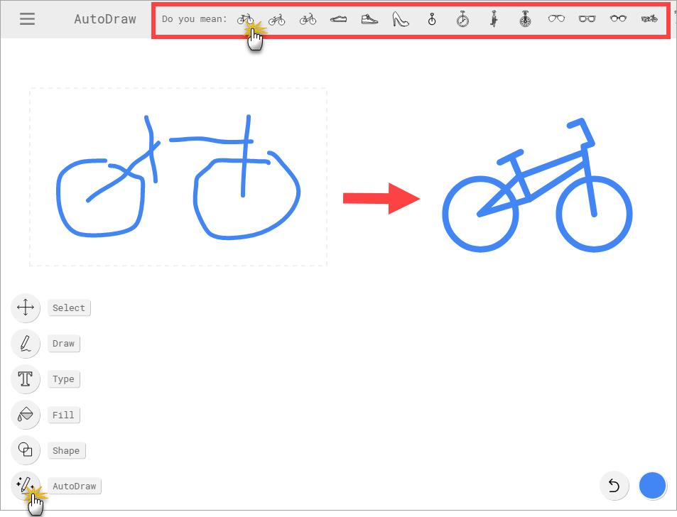 Google AutoDraw Vorschlag