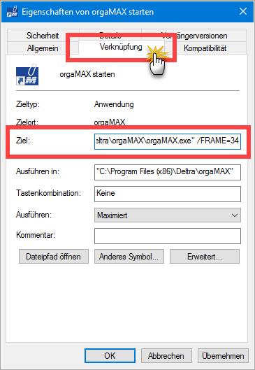 orgaMAX Start Eigenschaften
