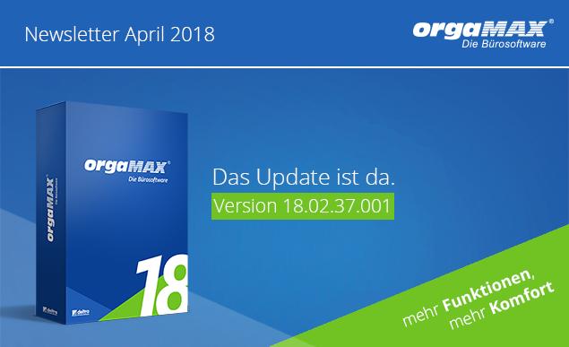 orgaMAX Newsletter Header April 2018