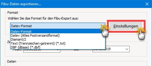 Fibu Export orgaMAX 2 SS