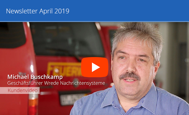 Header Newsletter April Wrede Nachrichtensysteme