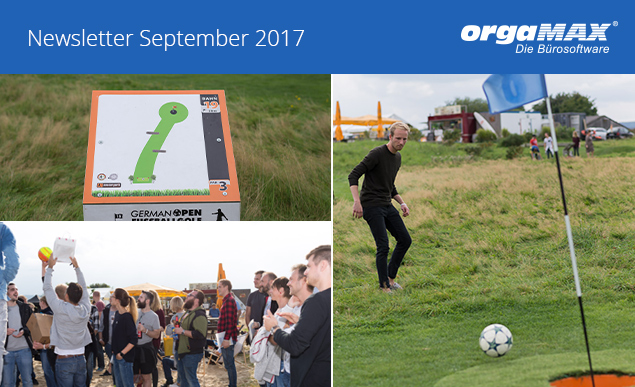 orgaMAX Newsletter September 2017